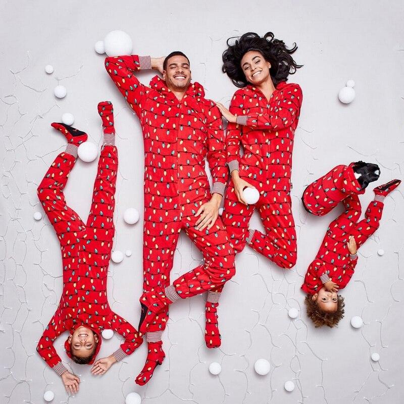 Lights Prints Christmas Matching Pajamas