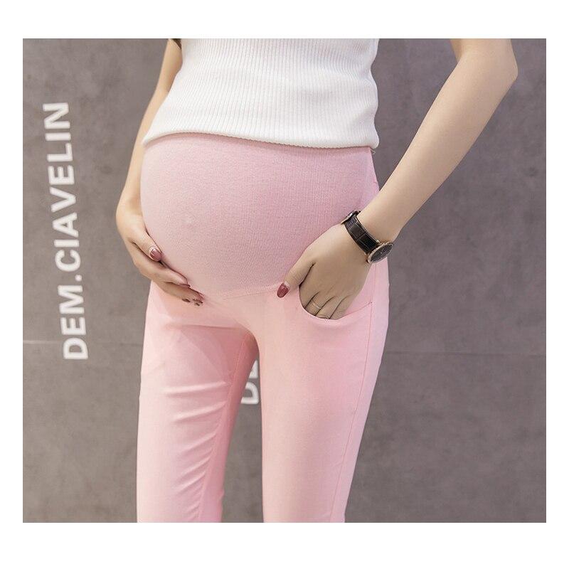 Maternity Summer Pencil Pants Stretchy Pregnancy Capris