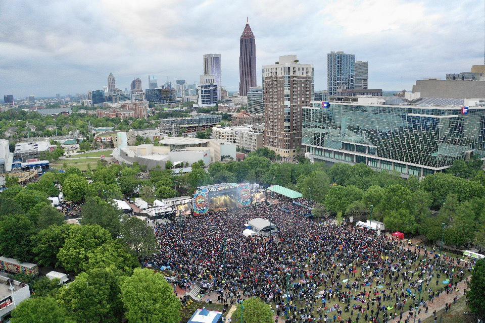 Sweet Water 420 Festival Aerial 2019