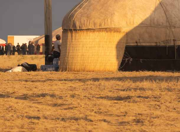 traditional yurts Kazakhstan