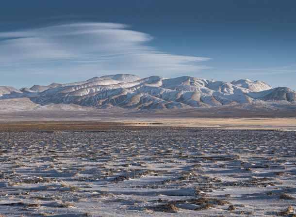 tibetan plateau in winter