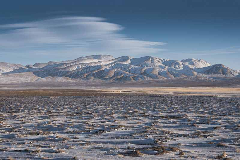 tibetan plateau in winter