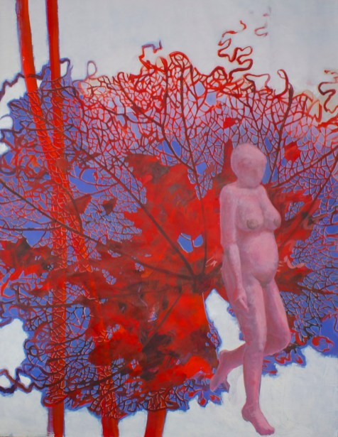 Moucharabieh - www.fabiennecolin.com Acrylique sur toile 250X200.