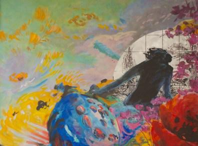 Sur Jardin 2 - www.fabiennecolin.com Acrylique sur toile 130X170.