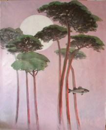 Méditer et P asser - www.fabiennecolin.comAcrylique sur toile 250X200.