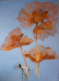 Spectacle d'Automne - www.fabiennecolin.com Acrylique sur toile 250X180.