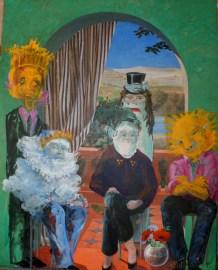Portrait de famille - www.fabiennecolin.com Acrylique sur toile 200X250