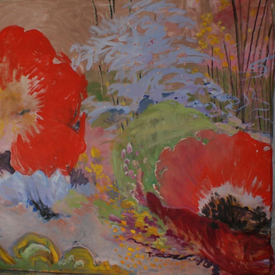 Rocaille - www.fabiennecolin.com Acrylique sur toile 250X250.