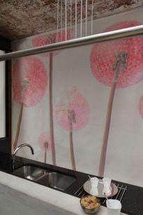 Fresque décorative pour les murs d'une cuisine.