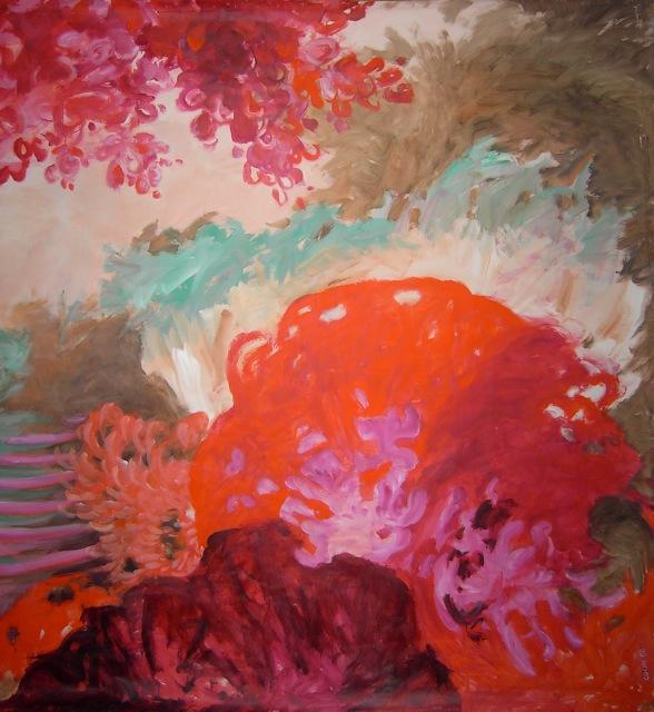 Je suis une libellule 3 - www.fabiennecolin.com Acrylique sur toile 250X250.