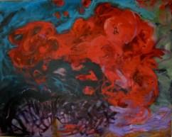 Bourrasque - www.fabiennecolin.com Acrylique sur toile 250X200