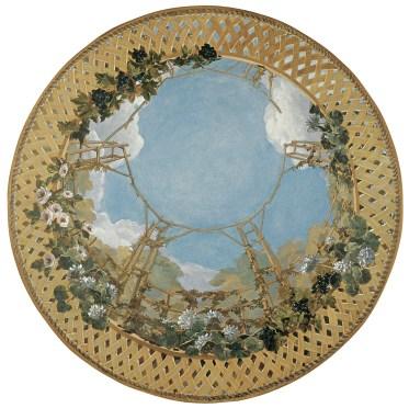 Treille. Plafond peint. www.fabiennecolin.com