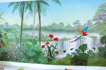 Détail du grand mur ouest. Interprétation des chutes d'Iguazu. fabiennecolin.com