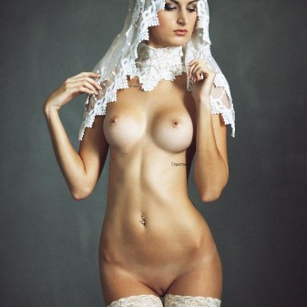 Naked religious female