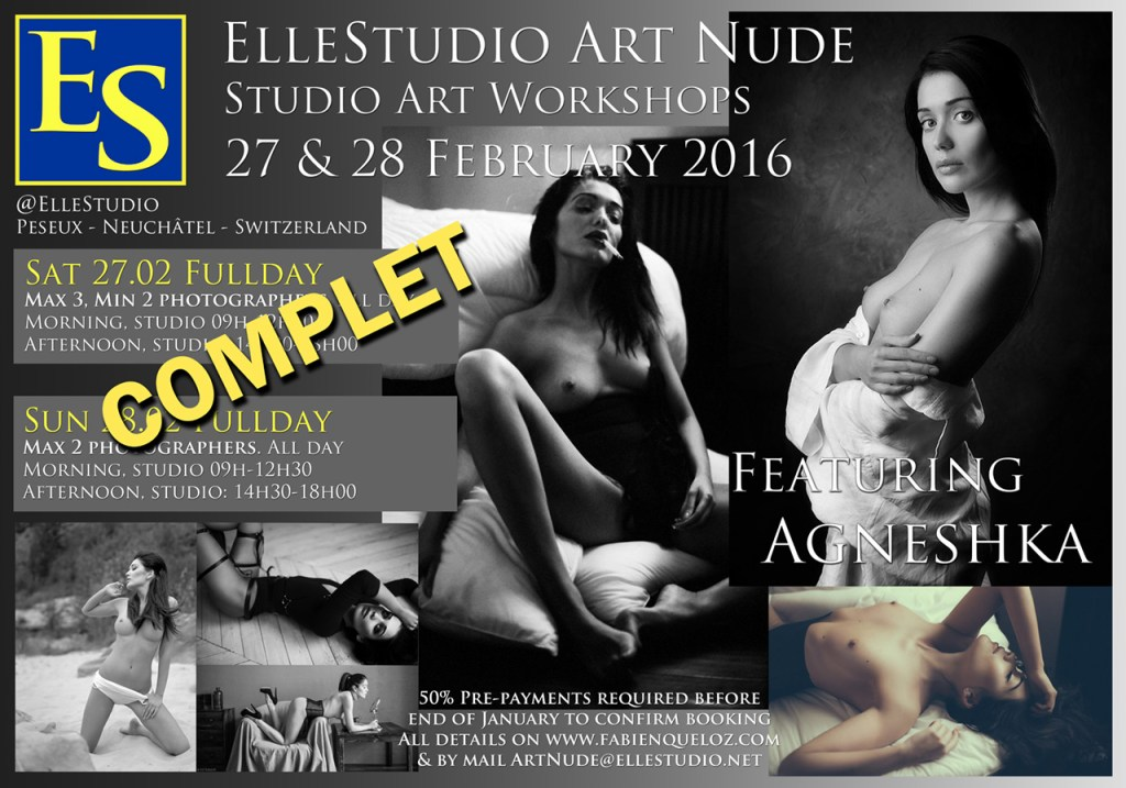 Art Nude workshops ElleStudio-Agneshka stages photographie nu suisse neuchatel