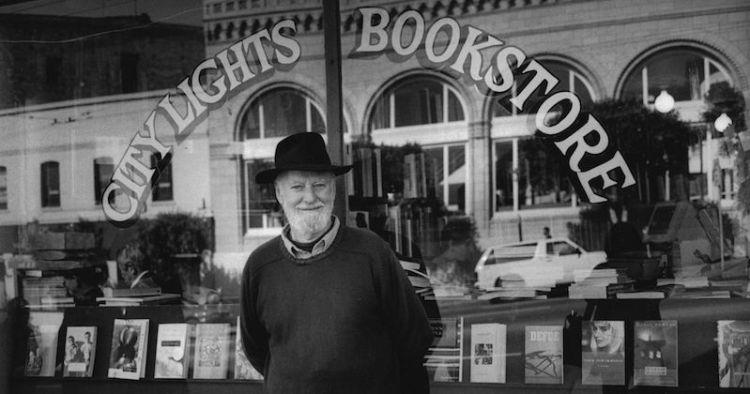 Lawrence Ferlinghetti. City Lights Bookstore