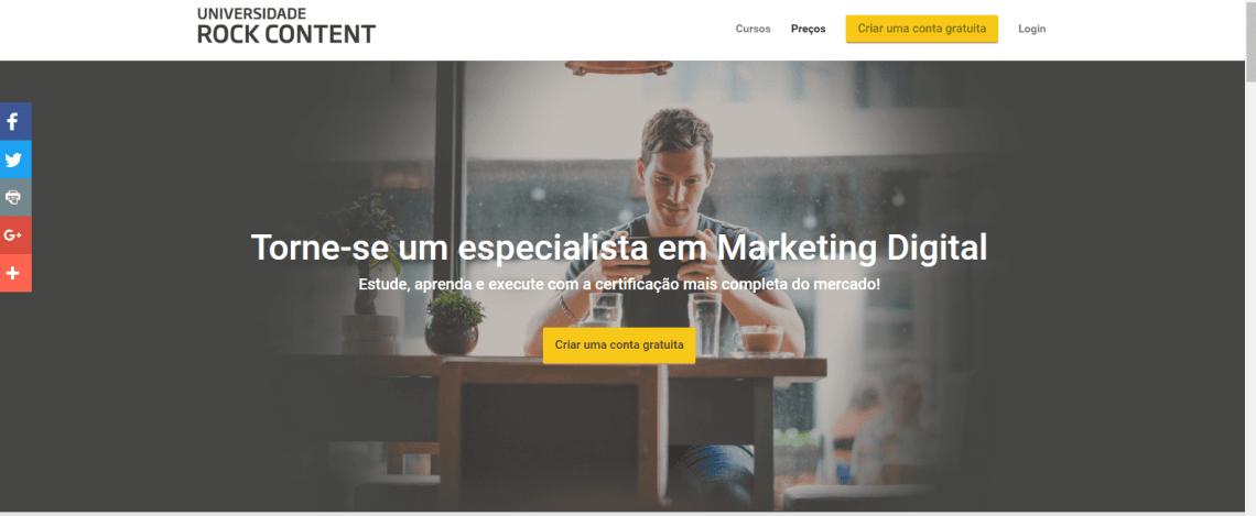 Cursos de Marketing Digital Rock Content