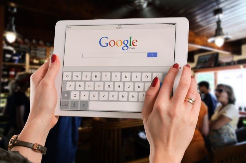 pesquisa de palavra chave: google