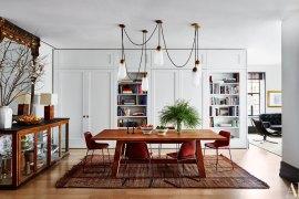 Sala de jantar, luninárias, decor, Naomi Watts