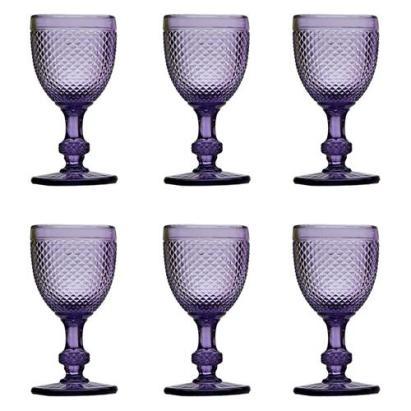 cor à mesa - taça para água violeta