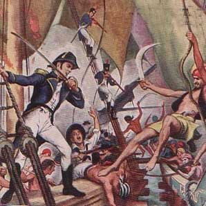 Fighting the Barbary pirates