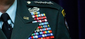 Photo of US military officer's ribbons from Government Executive.