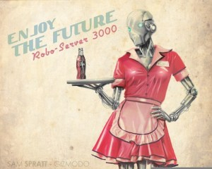 Robot waitress
