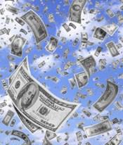 Money rainfall