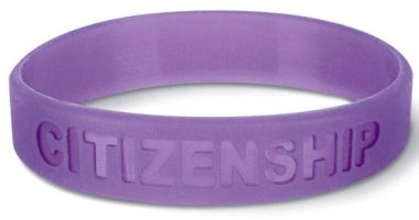 A citizenship bracelet. Call if you find it.