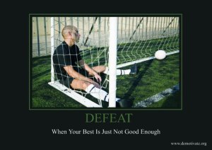 Defeat in soccer