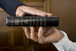 Swear on bible