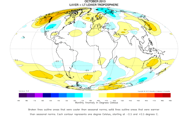 October 2013 World Temperature