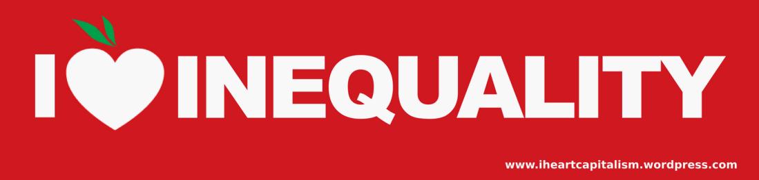 Bumper sticker: inequality