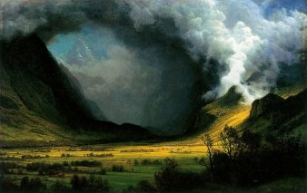 Albert Bierstadt's Storm in the Mountains