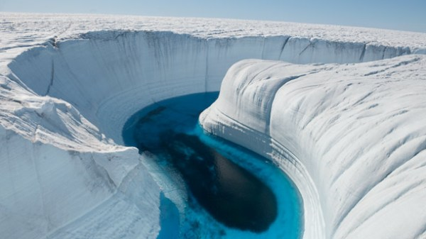 Greenland melt-water canal