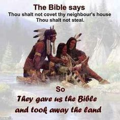 The trade of Bible for Land