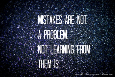 Learn from mistakes