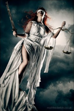 Lady Justice by Roswell Ivory