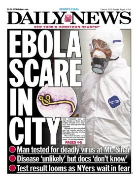 Ebola in the New York Daily News