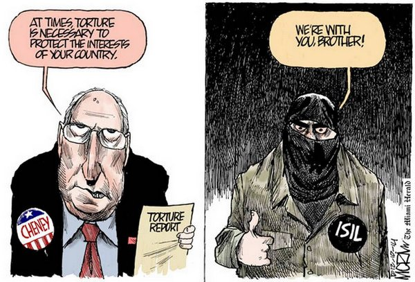 Jim Morin cartoon about Cheney and ISIS