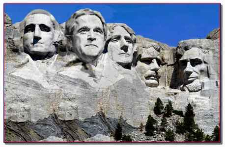 Mt Rushmore as it will be, with President Bush
