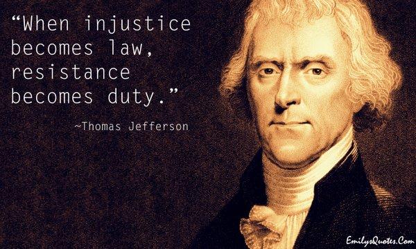 Jefferson on injustice