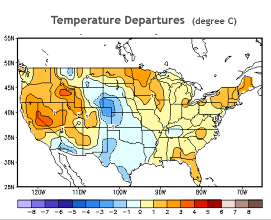 NOAA: temperature last 90 days