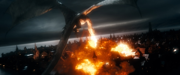 Smaug in Battle of the Five Armies