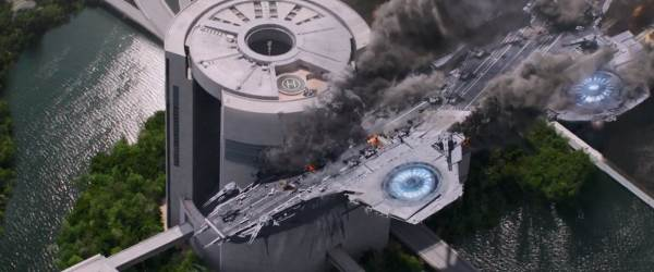 """Winter Soldier"": Helicarrier Crash"