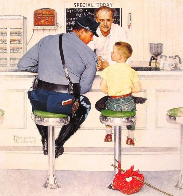"""""""The Runaway"""" by Norman Rockwell (1958)"""