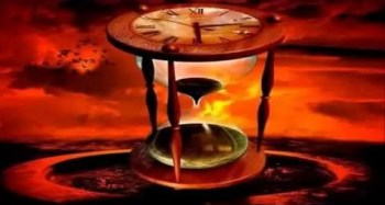 Clock hourglass