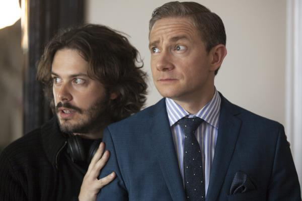Edgar Wright and Martin Freeman