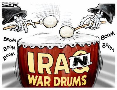 Iran war drums