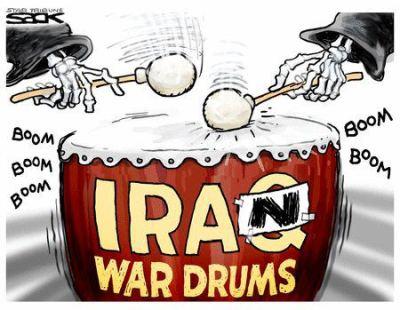 Iran war drums